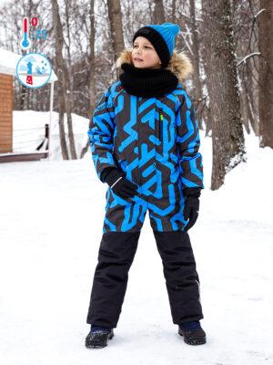 Комбинезон зимний для мальчика Nikastyle 8з0321 голубой