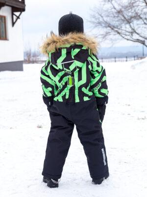 Комбинезон зимний для мальчика Nikastyle 8з0321 салатовый неон фото