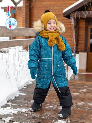Комбинезон зимний для мальчика Nikastyle 8з0921 атлантик