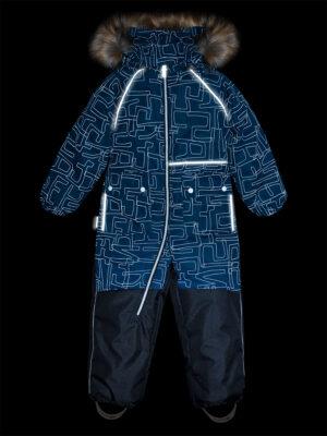 Комбинезон зимний для мальчика Nikastyle 8з0921 атлантик светоотражение