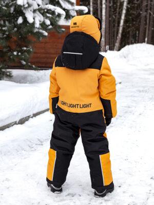 Комбинезон зимний для мальчика Nikastyle 8з1921 горчичный фото