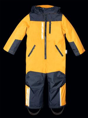 Комбинезон зимний для мальчика Nikastyle 8з1921 горчичный светоотражение