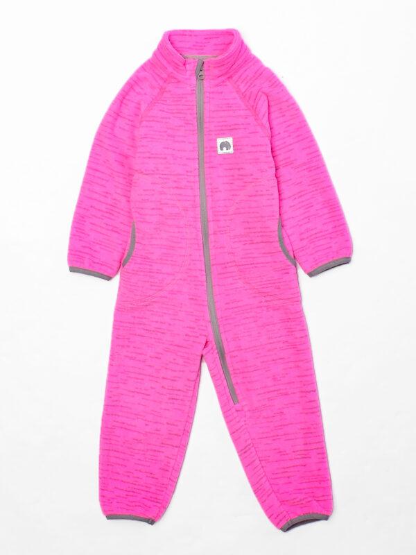 Комбинезон флисовый UKI kids «Егоза» розовый меланж 3