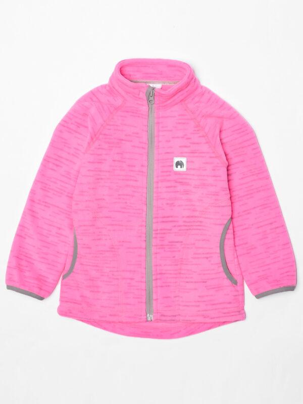 Кофта флисовая UKI kids «Забота» розовый меланж 3