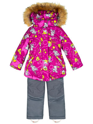Комплект зимний для девочки Nikastyle 7з0821 брусничный 1