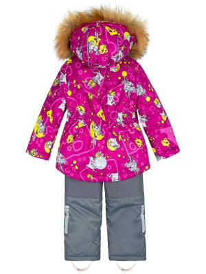 Комплект зимний для девочки Nikastyle 7з0821 брусничный 2