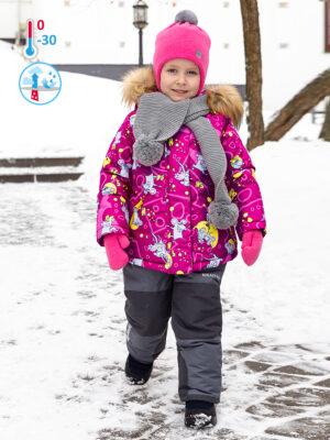 Комплект зимний для девочки Nikastyle 7з0821 брусничный