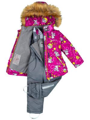 Комплект зимний для девочки Nikastyle 7з0821 брусничный 4