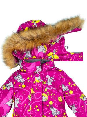 Комплект зимний для девочки Nikastyle 7з0821 брусничный 5