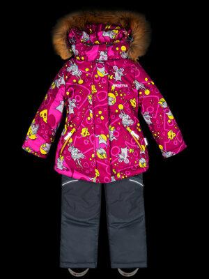 Комплект зимний для девочки Nikastyle 7з0821 брусничный 7