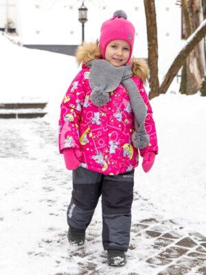 Комплект зимний для девочки Nikastyle 7з0821 фуксия 0