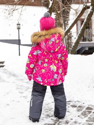 Комплект зимний для девочки Nikastyle 7з0821 фуксия 1