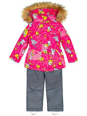 Комплект зимний для девочки Nikastyle 7з0821 фуксия 2