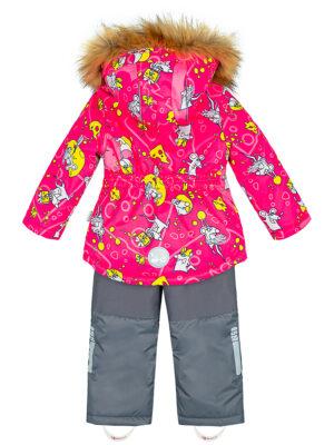 Комплект зимний для девочки Nikastyle 7з0821 фуксия 3