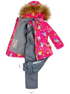 Комплект зимний для девочки Nikastyle 7з0821 фуксия 4