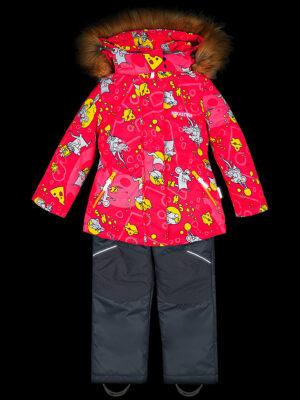 Комплект зимний для девочки Nikastyle 7з0821 фуксия 7