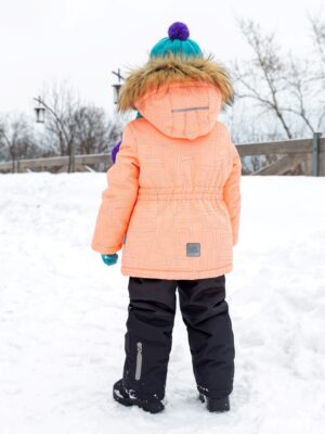 Комплект зимний для девочки Nikastyle 7з4421 персиковый 2