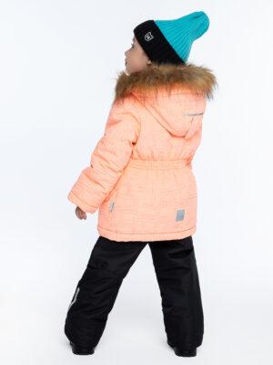 Комплект зимний для девочки Nikastyle 7з4421 персиковый 4