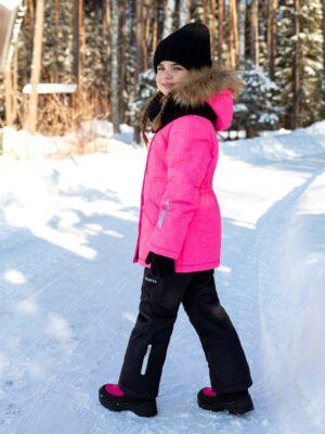 Комплект зимний для девочки Nikastyle 7з4421 розовый неон 1