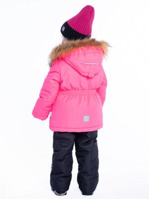 Комплект зимний для девочки Nikastyle 7з4421 розовый неон 3