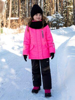 Комплект зимний для девочки Nikastyle 7з4421 розовый неон