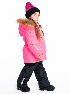 Комплект зимний для девочки Nikastyle 7з4421 розовый неон 4