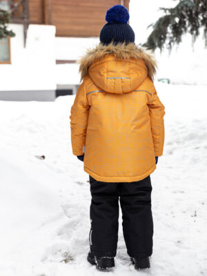 Комплект зимний для мальчика Nikastyle 7з1721 горчичный 1
