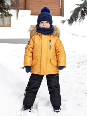 Комплект зимний для мальчика Nikastyle 7з1721 горчичный
