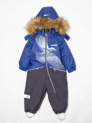 Комбинезон зимний для мальчика UKI kids «Орёл» синий 7
