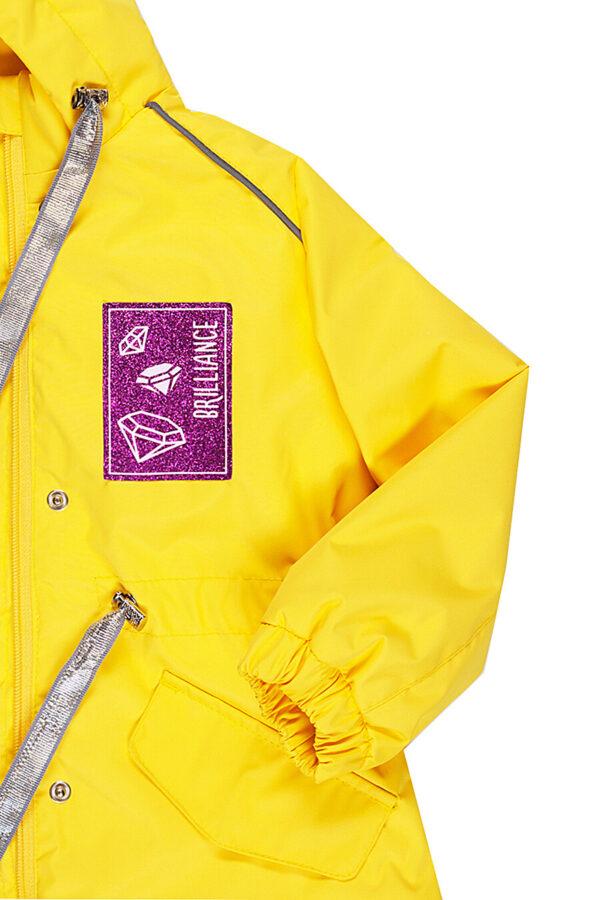 Парка демисезонная для девочки Nikastyle 5м2620 желтый детали