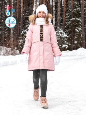 Парка зимняя для девочки Nikastyle 5з5221 пудровый