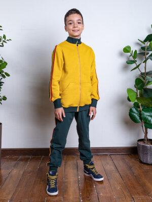 Комплект для мальчика Nikastyle 7т11921.2 горчичный/изумрудный