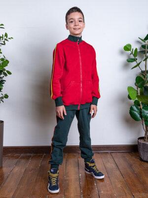 Комплект для мальчика Nikastyle 7т11921.2 красный/изумрудный