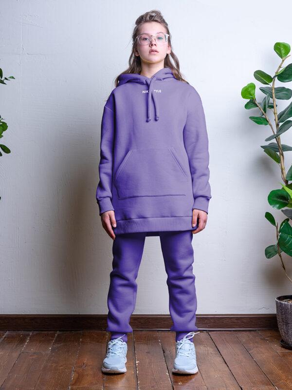 Комплект для девочки Nikastyle 7т12221.2 фиолетовый