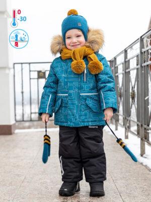 Комплект зимний для мальчика Nikastyle 7з1721 атлантик