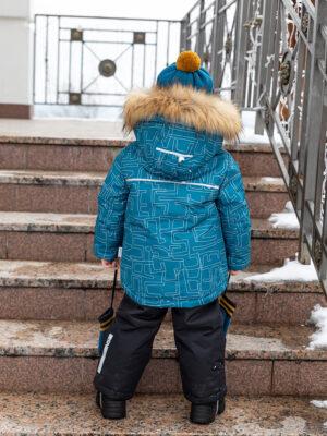 Комплект зимний для мальчика Nikastyle 7з1721 атлантик фото сзади