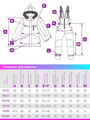 Комплект зимний для девочки Nikastyle 7з4421 персиковый неон размеры