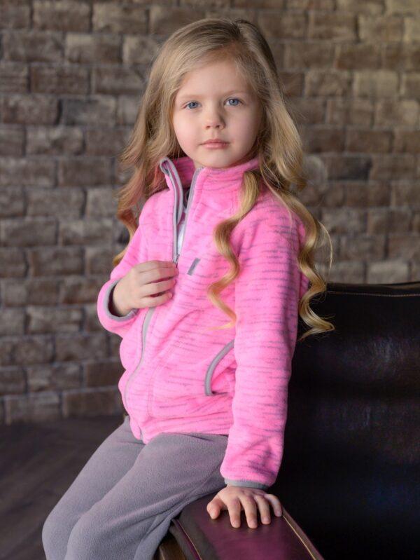 Кофта флисовая UKI kids «Забота» розовый меланж