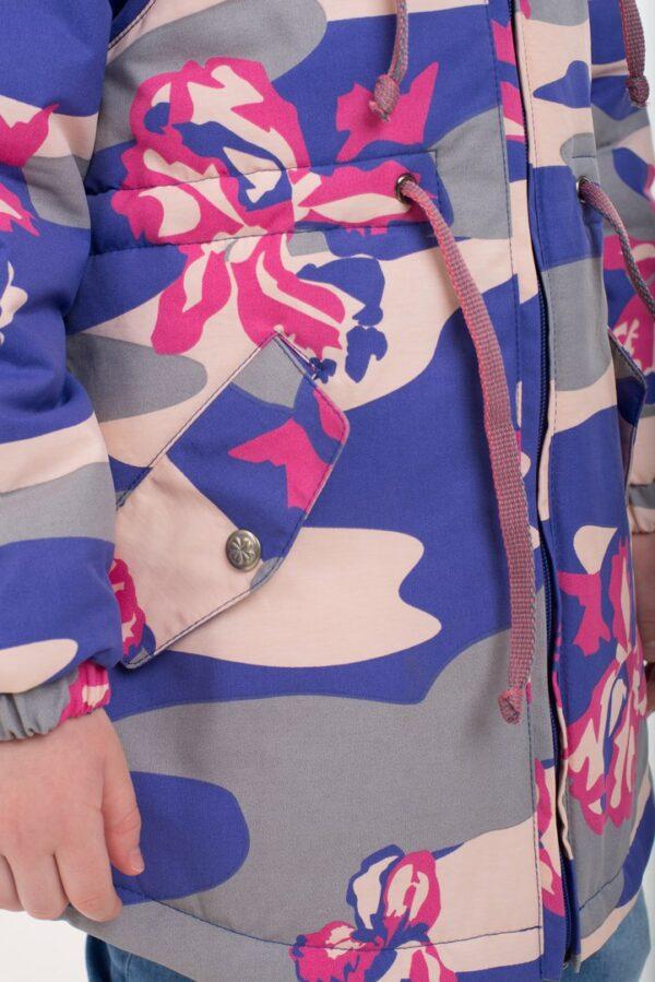 Парка демисезонная для девочки Nikastyle 5м0117 фиолет/крем детали