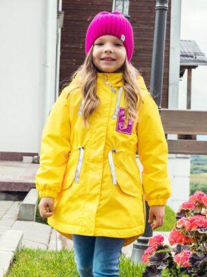 Парка демисезонная для девочки Nikastyle 5м2620 желтый