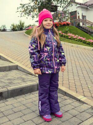 Комплект демисезонный для девочки Nikastyle 7м0620 фиолетовый/розовый