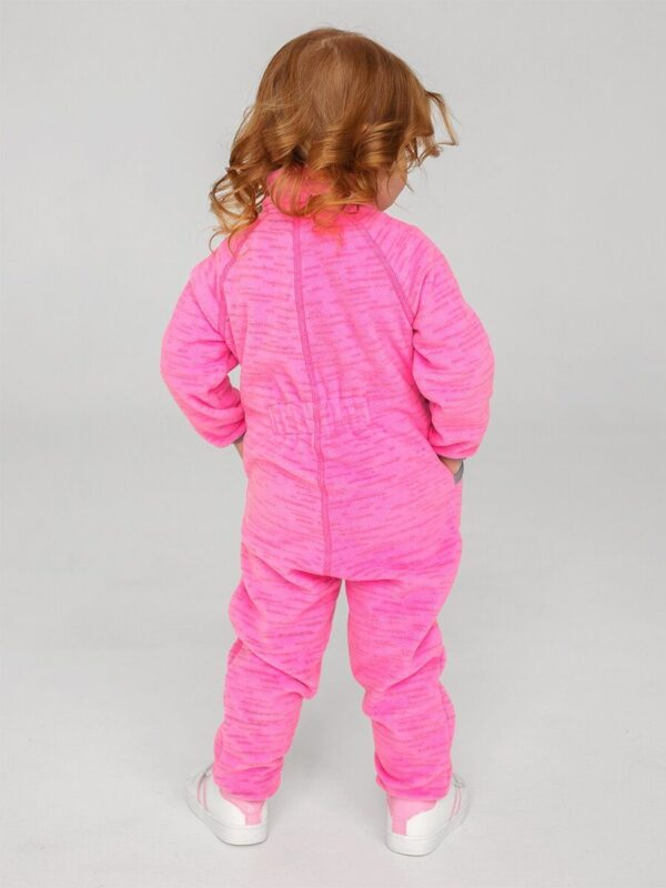 Комбинезон флисовый UKI kids «Егоза» розовый меланж 1