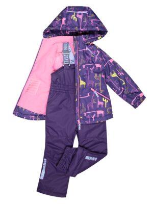 Комплект демисезонный для девочки Nikastyle 7м0620 фиолетовый/розовый внутри
