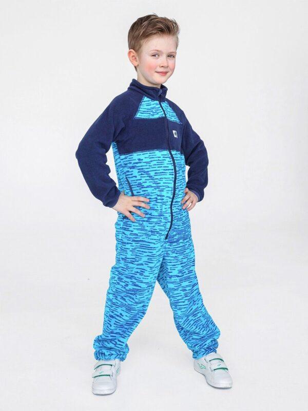 Комбинезон флисовый UKI kids «Комфорт» синий меланж