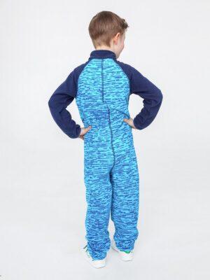 Комбинезон флисовый UKI kids «Комфорт» синий меланж 1