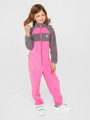 Комбинезон флисовый UKI kids «Комфорт» розовый меланж