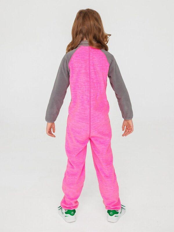 Комбинезон флисовый UKI kids «Комфорт» розовый меланж 1
