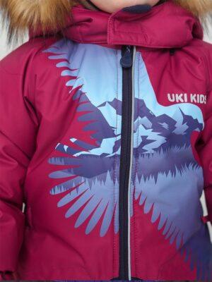Комбинезон зимний для мальчика UKI kids «Орел» бордовый орел