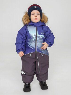 Комбинезон зимний для мальчика UKI kids «Орел» синий