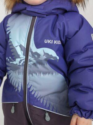 Комбинезон зимний для мальчика UKI kids «Орел» синий молния